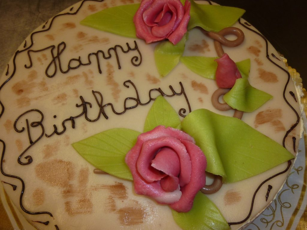 cake celebrating 30 years in healthcare marketing
